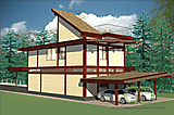 Project of Wooden House 256_3