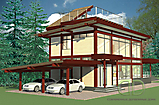 Project of Wooden House 256_5