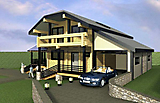 Project of Wooden House 214