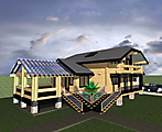Project of Wooden House 214_6
