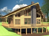 Project of Wooden House 215