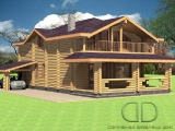 Project of Wooden House 216_1