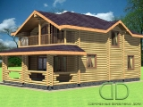 Project of Wooden House 216