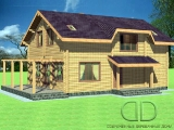 Project of Wooden House 225