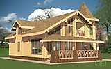 Project of Wooden House 256