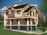 Project of Wooden House 300