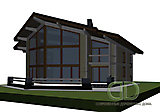 Project of Wooden House 450_1