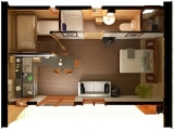 Project of Wooden House 45 Top view