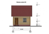 Project of Wooden House 50 facade 1