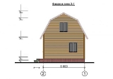 Project of Wooden House 50 facade 2