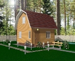 Project of Wooden House 50 Sketch 1