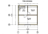 Project of Wooden House 73 first floor plan