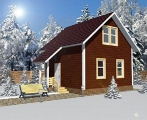 Project of Wooden House 73  sketch 1