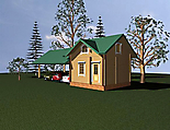 Project of Wooden House 75