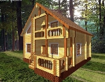 Project of Wooden House 132-3