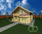 Project of Wooden House 146