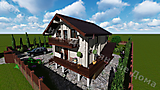 Project of Wooden House 155_6