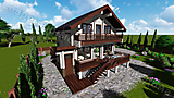 Project of Wooden House 155_7
