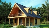 Project of Wooden House 156