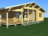 Project of Wooden House 158-2