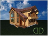 Project of Wooden House 160_2-1