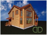 Project of Wooden House 160_2-2