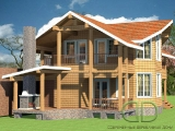 Project of Wooden House 164