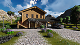 Project of Wooden House 190_1