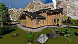 Project of Wooden House 190_3