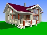 Project of Wooden House 195