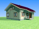 Project of Wooden House 195_5